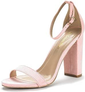 DREAM PAIRS Women's Hi-Chunk High Heel Pump Sandals