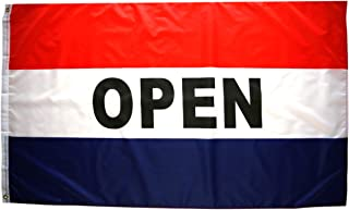 High Supply 3x5 Foot Open Flag with Two Brass Grommets, Polyester Fabric, and Double Stitched Edges, Open Flags for Businesses, Open for Business Sign, Business Flags