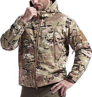 FREE SOLDIER Giubbotto da Uomo Giacca a Vento Termico Softshell Giubbotti Invernali Giubbotto da Lavoro Impermeabile Giacc...