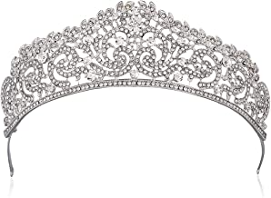 Princess Crown - Tiaras and Crowns for Girls Metal - Bridal Crowns for Wedding - Queen Crown for Wedding, Wedding, Birthday, Party, Prom (Silver Crown)