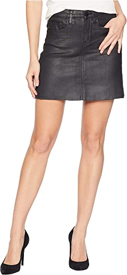 Black Coated Mini Skirt in Spartacus