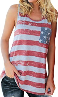 Cami American Flag Printed Tank Tops Women Stars and Stripes Casual Tanks Ladies Summer Sleeveless Tee Shirt Blouse Teens...