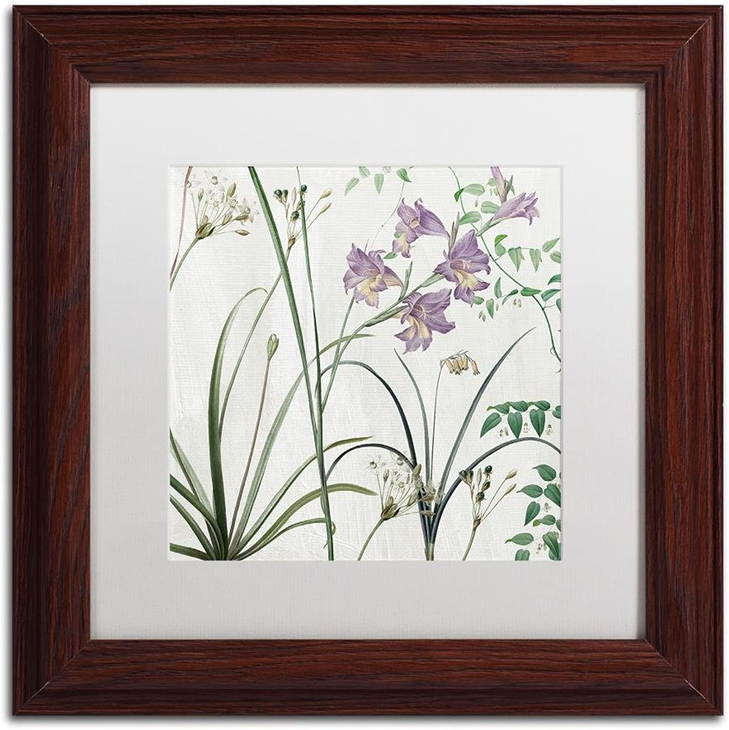 Trademark Fine Art Softly III by color Bakery, White Matte, Wood Frame 11x11