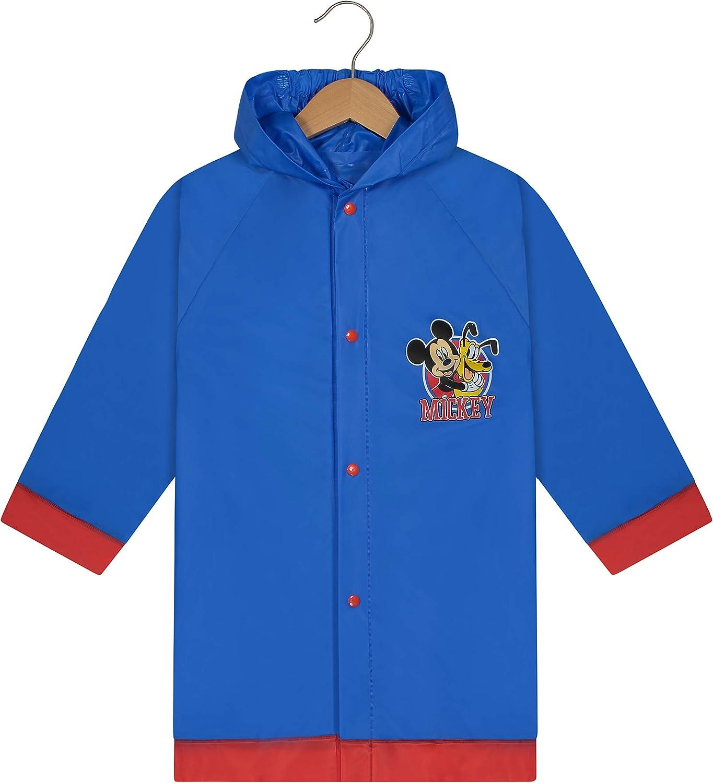 Disney Mickey Mouse Boys Waterproof Outwear Hooded Rain Slicker