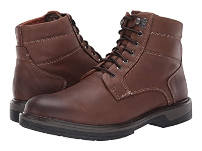 Johnston & Murphy Rutledge Shearling Boot (Brown Oiled Waterproof Tumbled Full Grain) Men