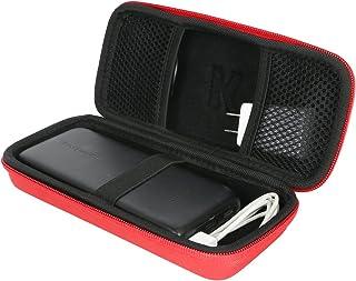 Khanka RAVPower 便携式充电器硬质旅行箱RAVPower 22000mAh 便携式手机充电器 22000 移动电源 5.8A 输出 3 端口电池组316 红色