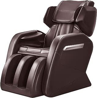 OOTORI Full Body Electric Massage Chair, Zero Gravity,Back Heating, Zero Space Design (Brown)