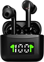 Wireless Bluetooth Earbuds in-Ear Bluetooth 5.2 Wireless Earbuds with LED Display Charging Case 40 Hours Playtime HiFi Ste...
