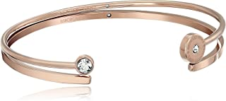 Michael Kors Logo Disc and Pave Jewelry Gift Cuff Bracelet