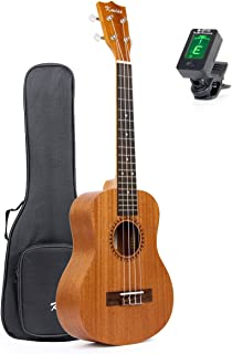 Tenor Ukulele Ukelele 26 inch Ukalele Sapele 18 Fret Aquila String Carving Sound Hole with Gig Bag Tuner By Kmise