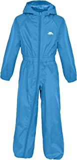 Trespass Button Kids Waterproof Windproof Breathable Rain Suit for Children