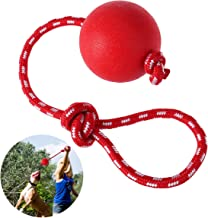 UEETEK Pet Rubber Chew Toy Ball with Rope, Dog Interactive Ball Thrower for Pets Playing Training Exercising, Ball Diameter 7.5cm