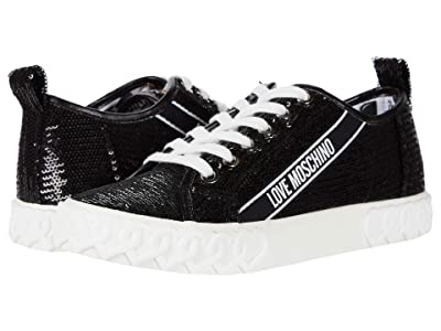 LOVE Moschino Glitter Sneaker (Black) Women