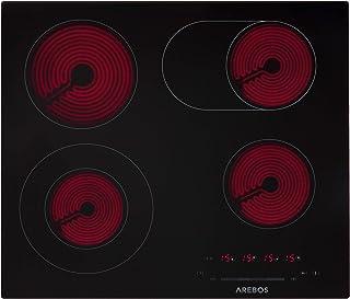 Arebos Table de cuisson   Plaque vitrocéramique verre   Contrôle Cuisinière   7200W