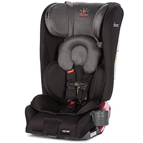 Diono Rainier All-in-One Convertible Car Seat, from Birth to 120 Pounds, Black Mist (Discontinued)