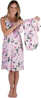 Maternity/Nursing Nightgown & Matching Baby Layette Set, Newborn, Nightdress