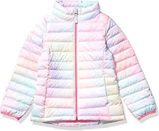 Amazon Essentials Girls' Lightweight Water-Resistant Packable Puffer Jacket