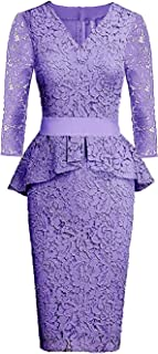 Best lace peplum wedding gown Reviews