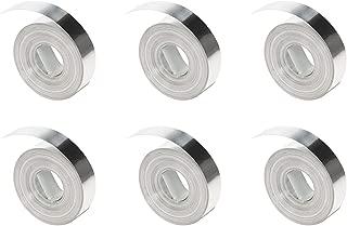DYMO Fita adesiva em relevo de alumínio, Prata, Tape (Aluminum) | 6 Rolls