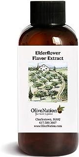 OliveNation Elderflower Flavor Extract for Baking, Aromatic Floral Flavoring, Non-GMO, Gluten Free, Kosher, Vegan - 4 ounces