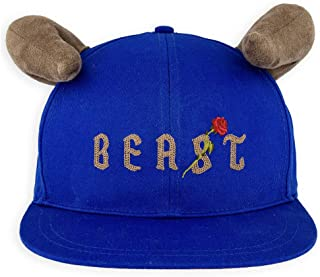 Disney Hat - Baseball Cap - Beast with Horns - Beauty and The Beast for Adults Blue