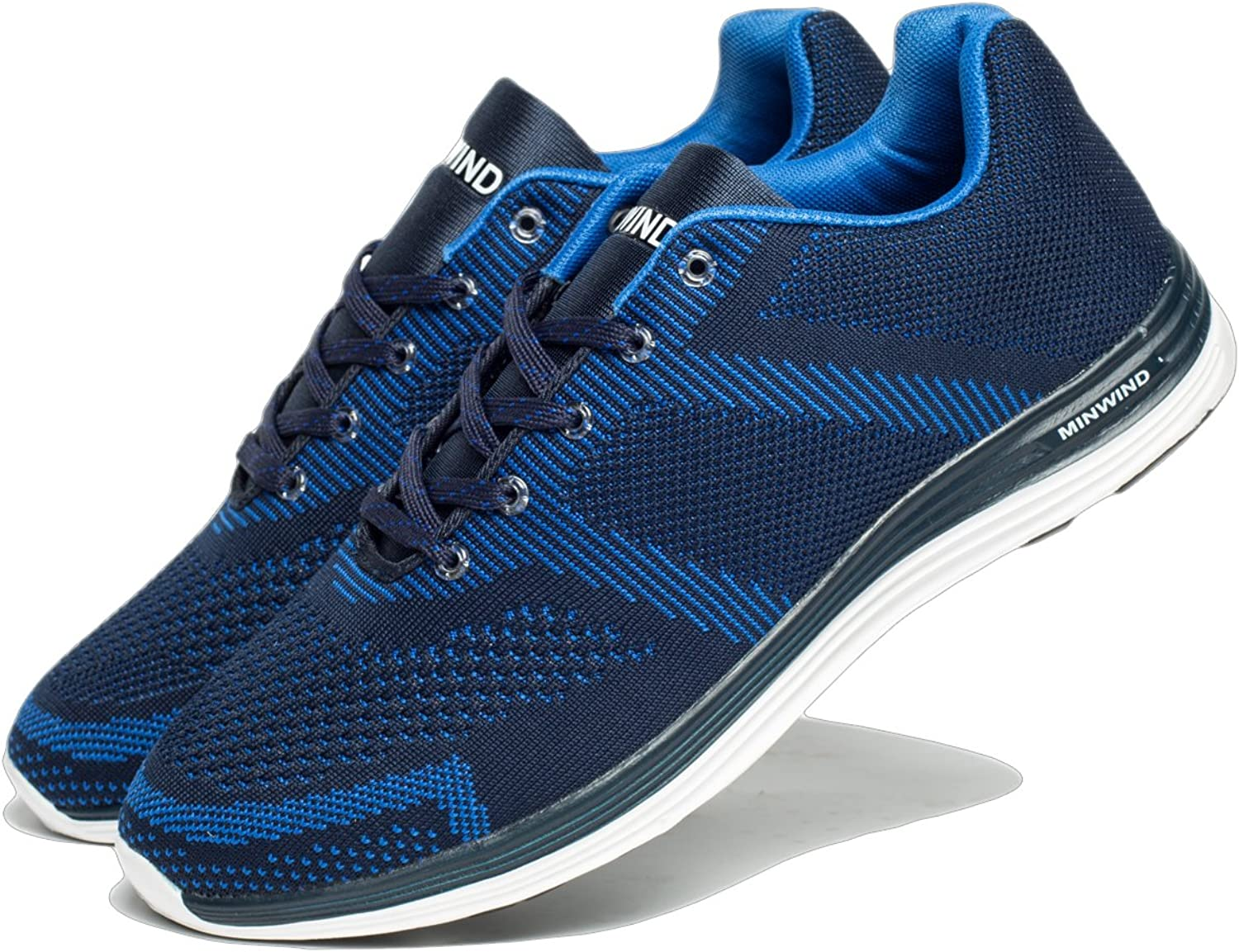MINWIND Men's Lightweight Running shoes Knit Breathable Athletic shoes Outdoor Sneakers