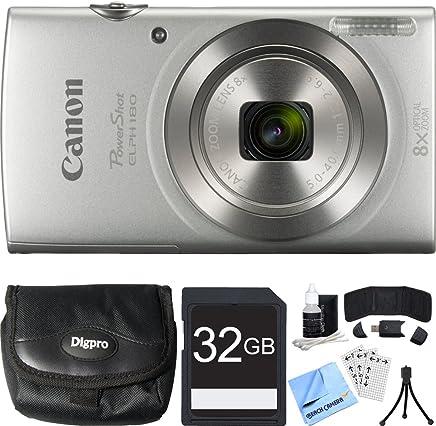 Canon PowerShot ELPH 180 20MP HD Silver Digital Camera...