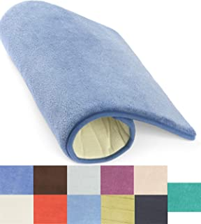Simple Deluxe Sky Blue Bath or Kitchen Mat, Memory Foam Rug, Non Slip Backing, Washable, Absorbent Alfombras para Baños