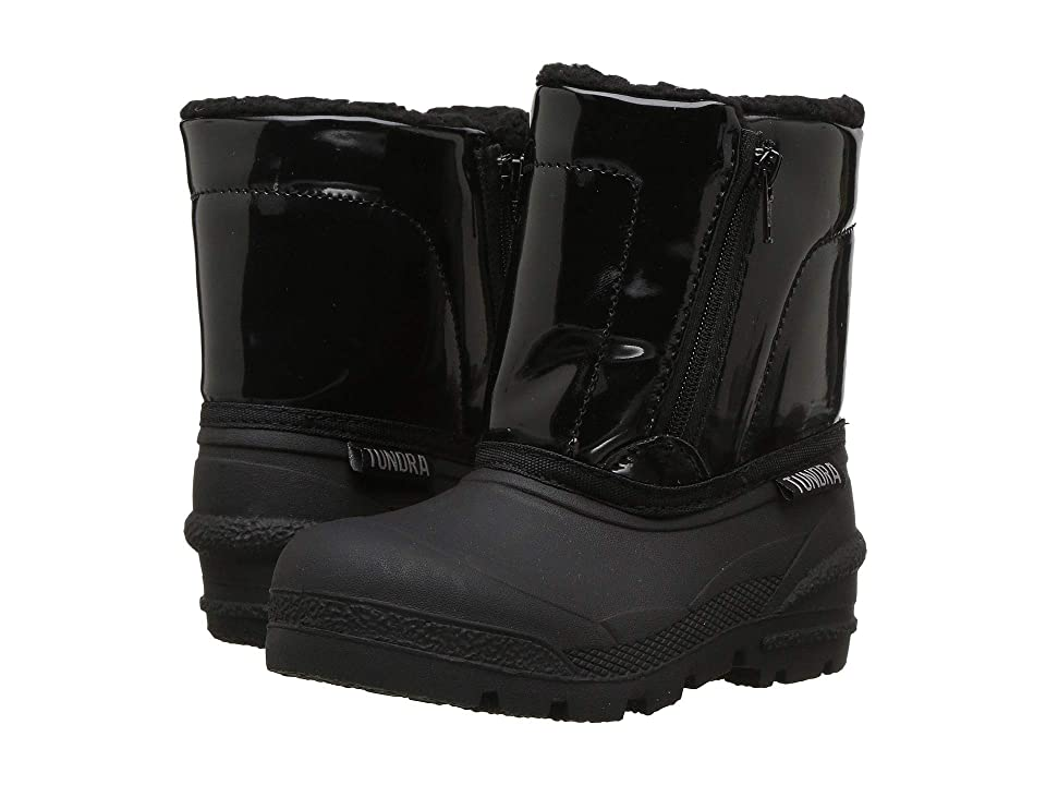 Tundra Boots Kids Sonia (Toddler) (Black) Girls Shoes