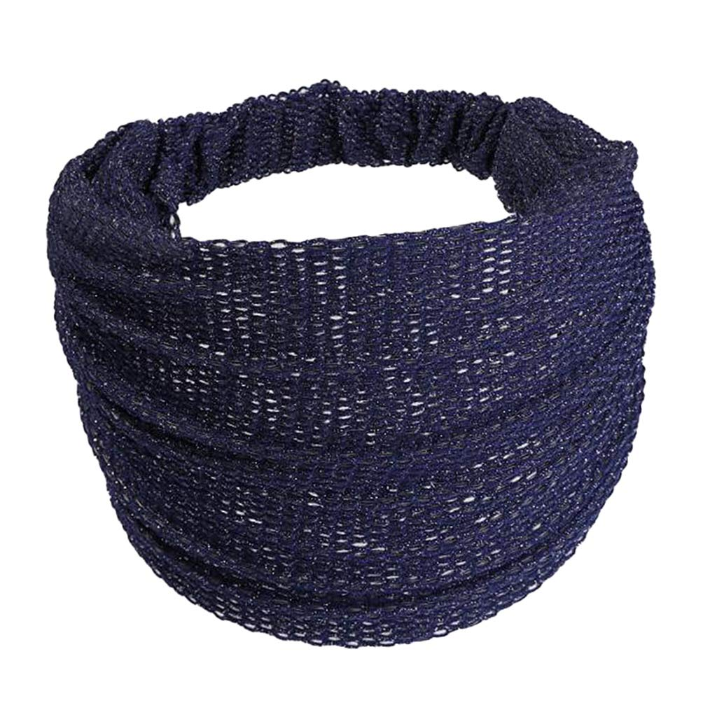Prettyia Womens Wide Headband Head Wrap Causal Fitness Workout Non-slip Hair Band