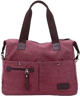 PB-SOAR Unisex Vintage Canvas Shopper Schultertasche Umhängetasche Handtasche Reisetasche Lila