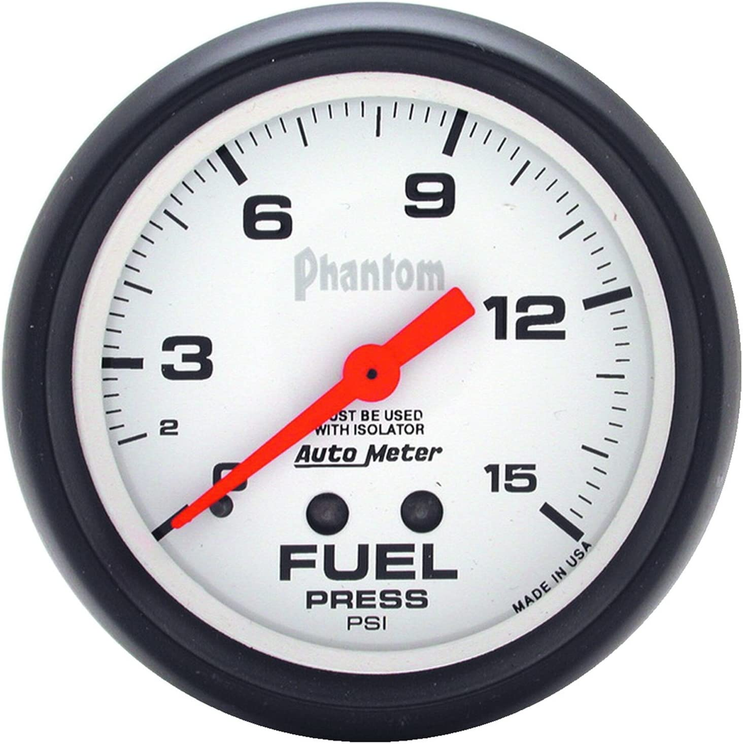 Auto Meter 5813 Phantom Pressure Mechanical Gauge Courier Max 56% OFF shipping free Fuel
