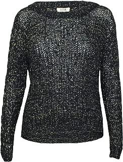 Molly Bracken Womens Knit Lurex Sweater Black/Gold One Size