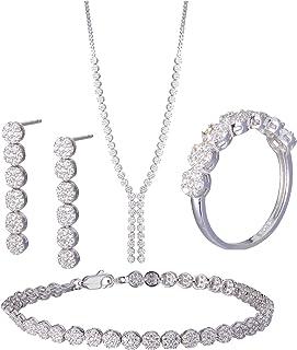 Azaleas Jewelry Set Inlaid Zircon for Women