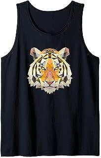 Geometric Tiger Animal Big Cat Art Inspired Jungle Gift Tank Top