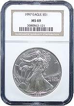 1997 American Silver Eagle Dollar NGC MS69