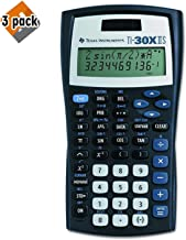 $58 » Texas Instruments TI-30X IIS 2-Line Scientific Calculator, Black with Blue Accents - 3 Pack