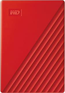 WD 4 TB My Passport Portable Hard Drive with Password Protection and Auto Backup Software - Red - Works with PC, Xbox and PS4