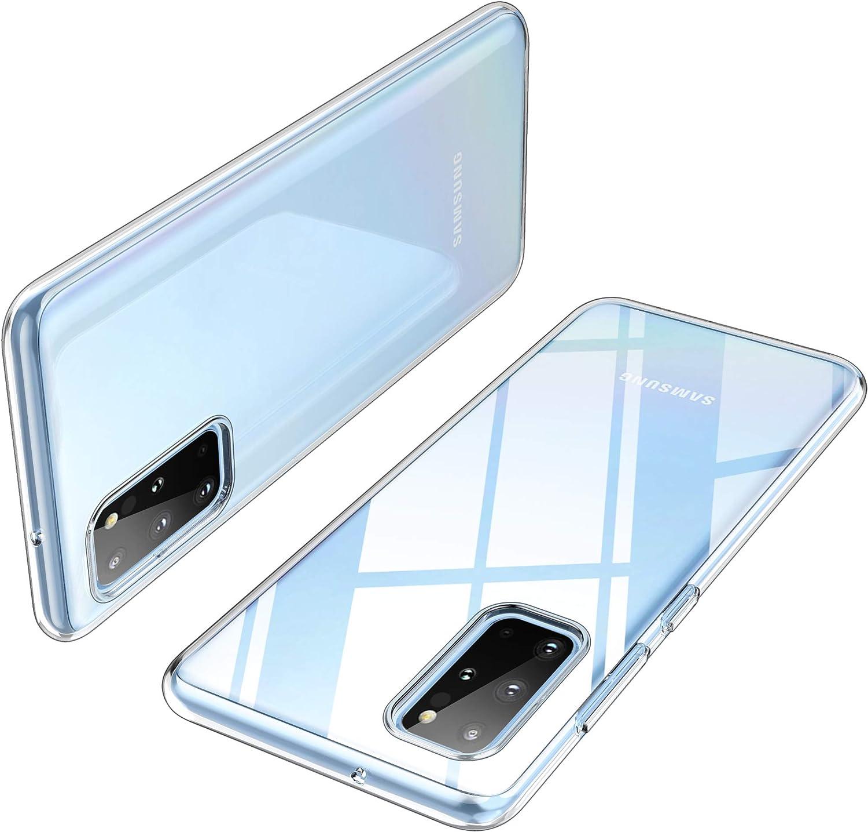 Herbests Kompatibel mit Samsung Galaxy S20 Plus H/ülle Transparent Silikon Blumen Schutzh/ülle Glitzer Gl/änzend Bunt Ultra D/ünn weiche Silikon Handyh/ülle Tasche R/ückschale Crystal Case,Blau