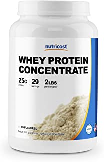 Nutricost Whey Protein Concentrate (Unflavored) 2LBS - Gluten Free & Non-GMO