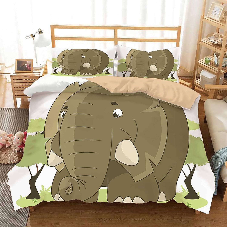 Elephant half Animal Jungle Savannah Duvet Set Cover Nature Sale Africa Ki