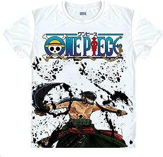 Anime One Piece Roronoa Zoro T-Shirt Summer Printed T-Shirt Tee