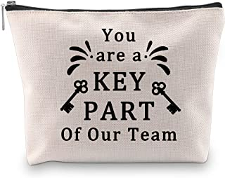 BLUPARK Employee Appreciation Gift for Coworker Team Player Instructor Coach Cosmetic Bag You Are A Key Part of Our Team Thank You Gift (Key Part Of Our Team)