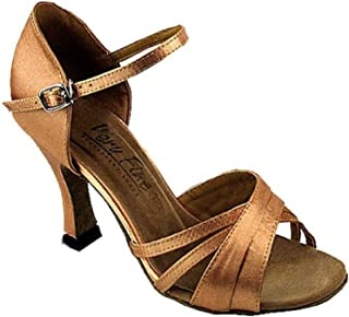 Very Fine Dance Shoes 6030 Bronze Satin (Competition Grade) 2.5 Heel Size 8US