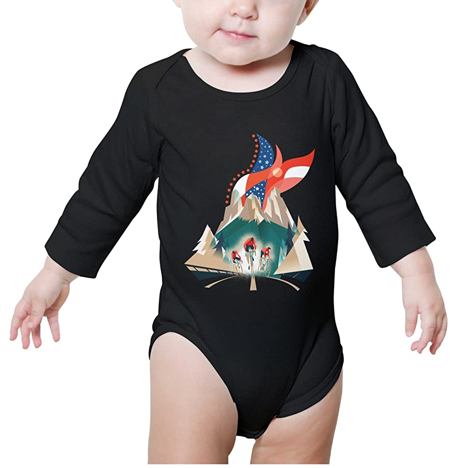 Xanx Smon Baby Onesies Bodysuit American Flag BMX Cycling Organic Clothes