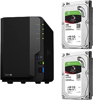 【NAS HDDセット】Synology DS218+ & Seagate HDD [2ベイ / HDD IronWolf-4TBx2台同梱 / デュアルコアCeleron 2GBメモリ搭載]