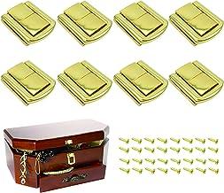 8 stuks slabbetjes hasp togle latch juwelendoos sluiting zinklegering haspsluiting roestvrij staal doos hasp voor houten k...