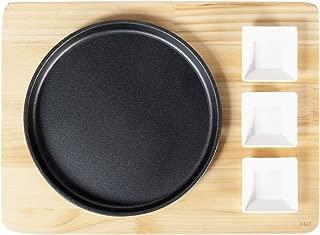 cm 16x22 Base Legno con 3 Ciotoline Porcellana H/&H 730030 Piastra Ghisa