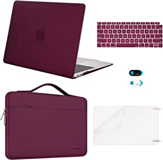 MOSISO MacBook Air 13 inch Case 2020 2019 2018 Release A2337 M1 A2179 A1932,Plastic Hard Case&Bag&Keyboard Skin&Webcam Cov...