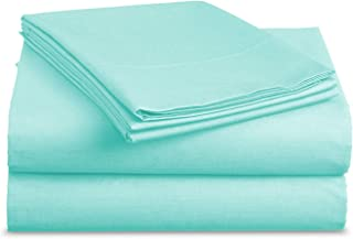 Luxe Bedding Bed Sheet Set - Brushed Microfiber 2000 Bedding - Wrinkle, Fade, Stain Resistant - Hypoallergenic - 3 Piece (Twin, Aqua Sky)